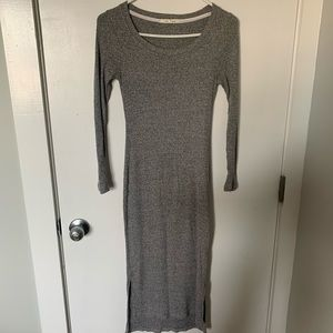 Anthropologie midi cotton ribbed dress